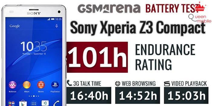 Thời gian dùng pin của Xperia Z3 Compact