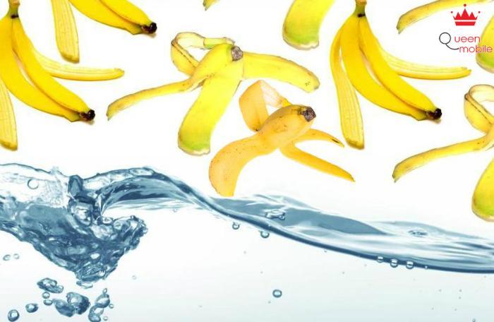 Vỏ chuối hấp thụ tốt các chất độc trong nước