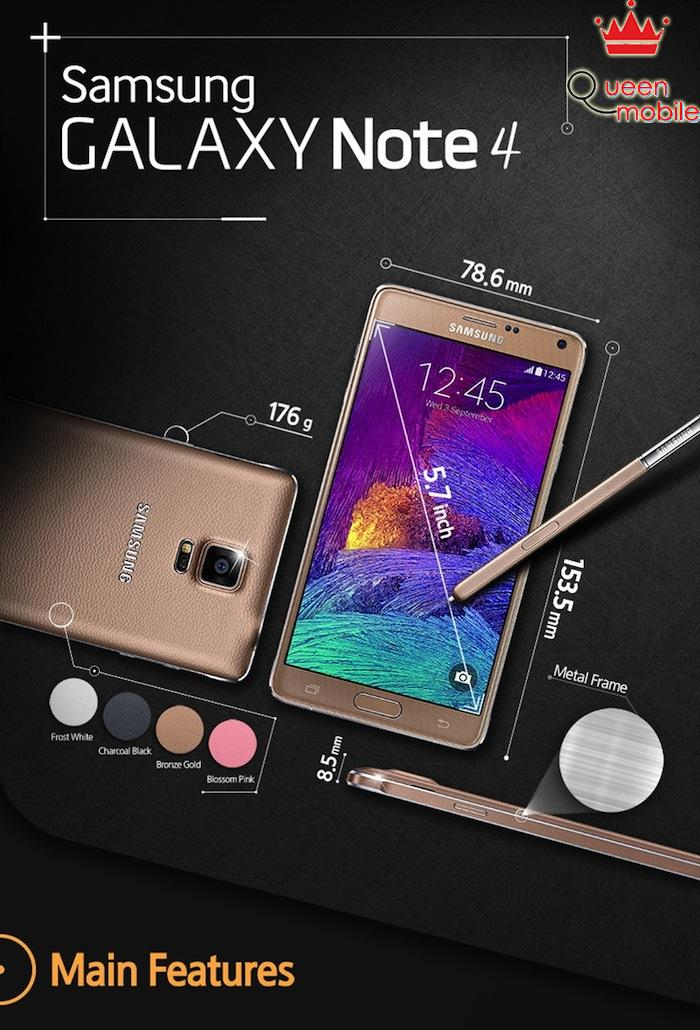 Hiểu hết về Samsung Galaxy Note 4 qua 8 bức ảnh