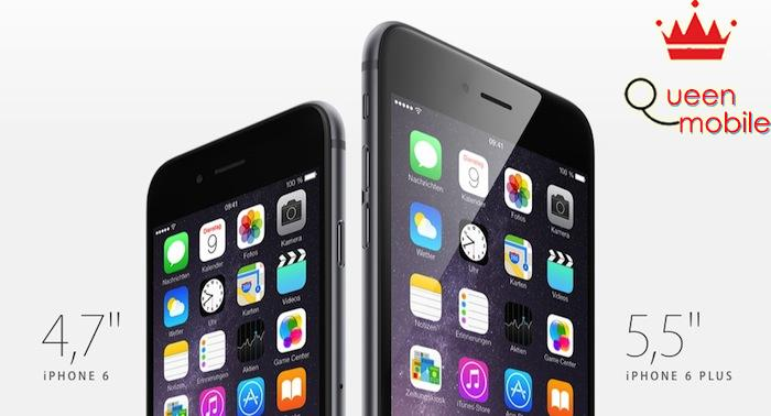 iPhone 6 và iPhone 6 Plus có màn hình lớn