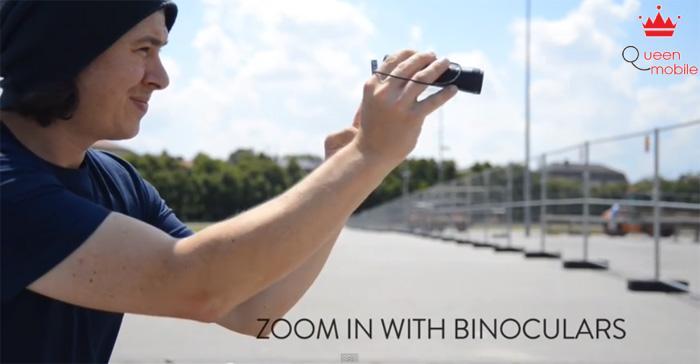Dùng ống nhòm với ống kính Smartphone