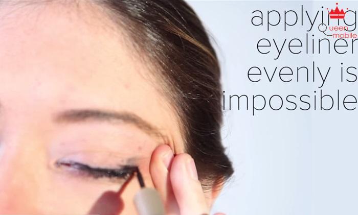 Sử dụng bút kẻ mắt như ý là việc bất khả thi