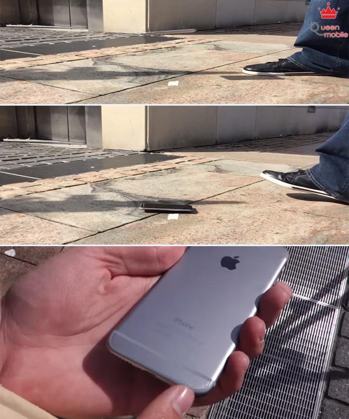 Màn hình iPhone 6 bể tan sau bài Test độ bền