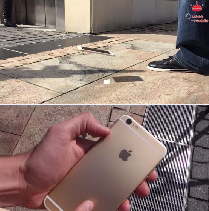 Thử nghiệm rơi tương tự với iPhone 6 Plus. Kết quả cũng không ảnh hưởng nhiều, thậm chí còn ít trầy hơn iPhone 6.