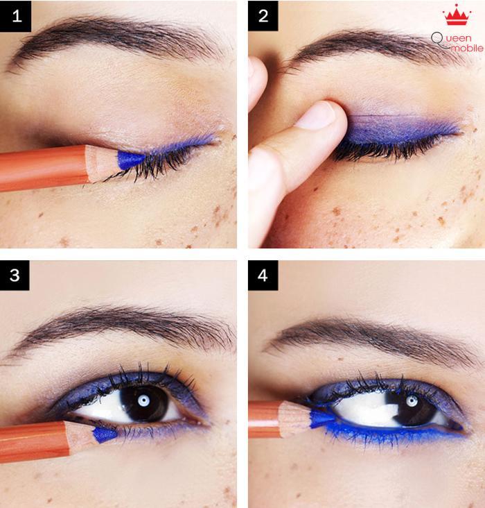 Màu xanh làm mắt bạn sáng hơn