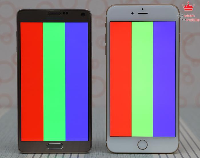 Đọ màn hình Samsung Galaxy Note 4 với iPhone 6 Plus - Bất phân thắng bại