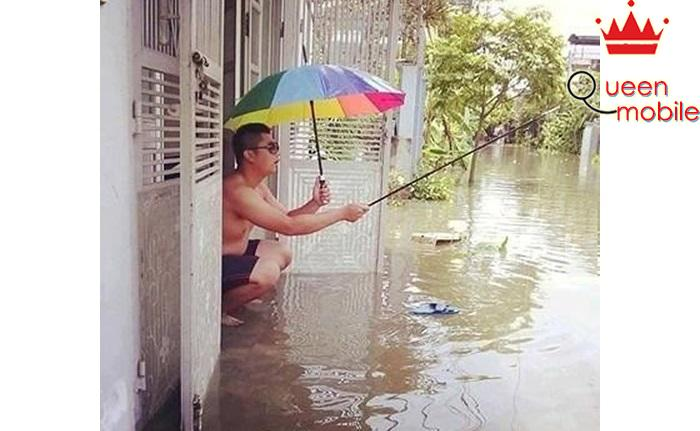 Thú vui chỉ có lúc ngập lụt