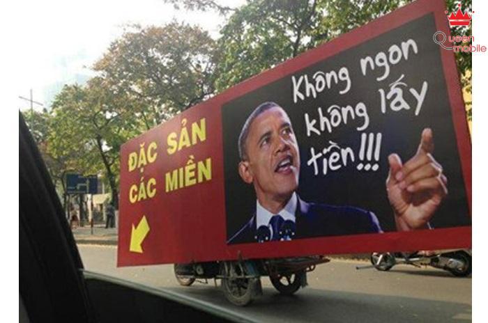 Obama đã đổi nghề sang bán đặc sản các miền, mại dô