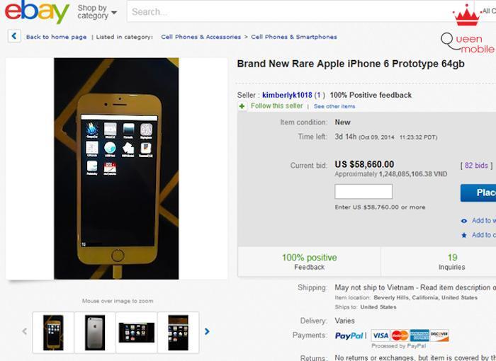 IPhone 6 bản thử nghiệm có giá đến 1.2 tỷ đồng