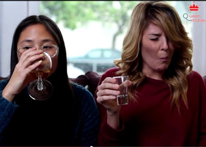 Uống rượu từng ngụm? Không! Với bạn chỉ cần 1 lần uống cho cả 1 ly