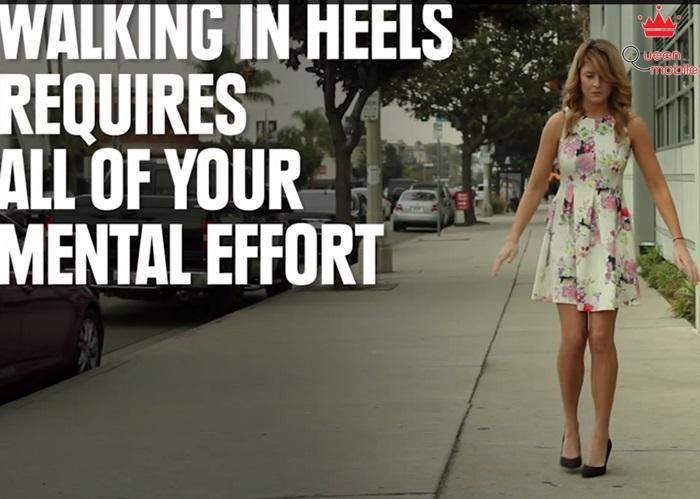Mang giày cao gót có cần phải sử dụng hết năng lượng?