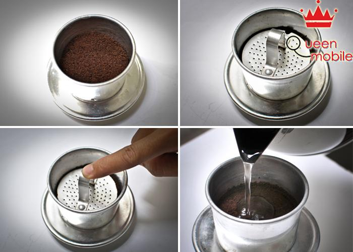 Thực hiện tuần tự để có ly cà phê ngon