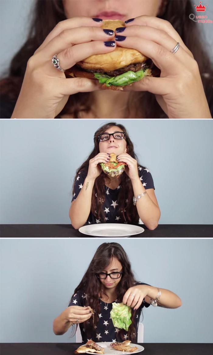 Cách ăn Hamburger hoàn hảo