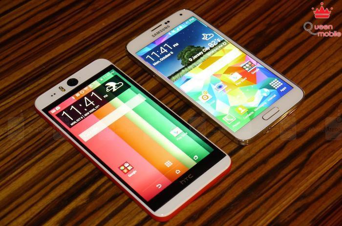 So sánh HTC Desire EYE và Samsung Galaxy S5