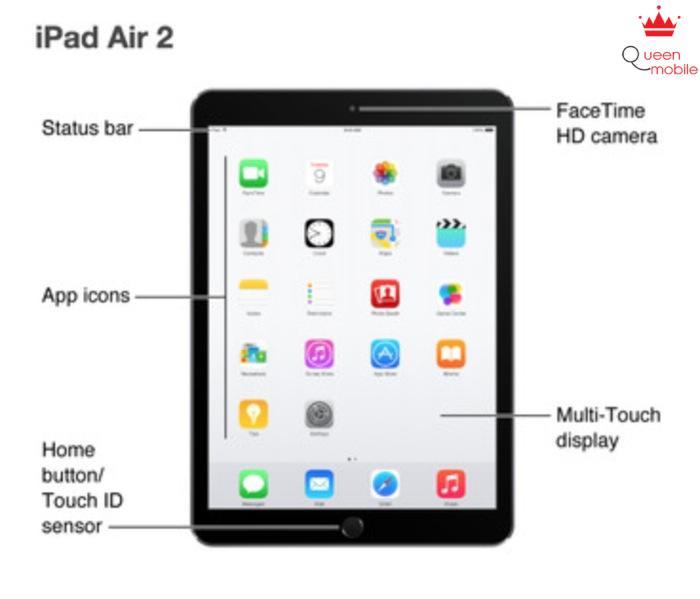 Ảnh chụp màn hình iPad Air 2