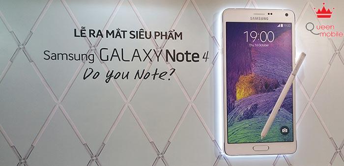 Samsung chính thức giới thiệu Galaxy Note 4 tại Việt Nam – Giá 17.99 triệu, có hàng từ 24/10