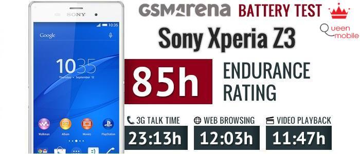 Kết quả ấn tượng về thời lượng pin của Xperia Z3