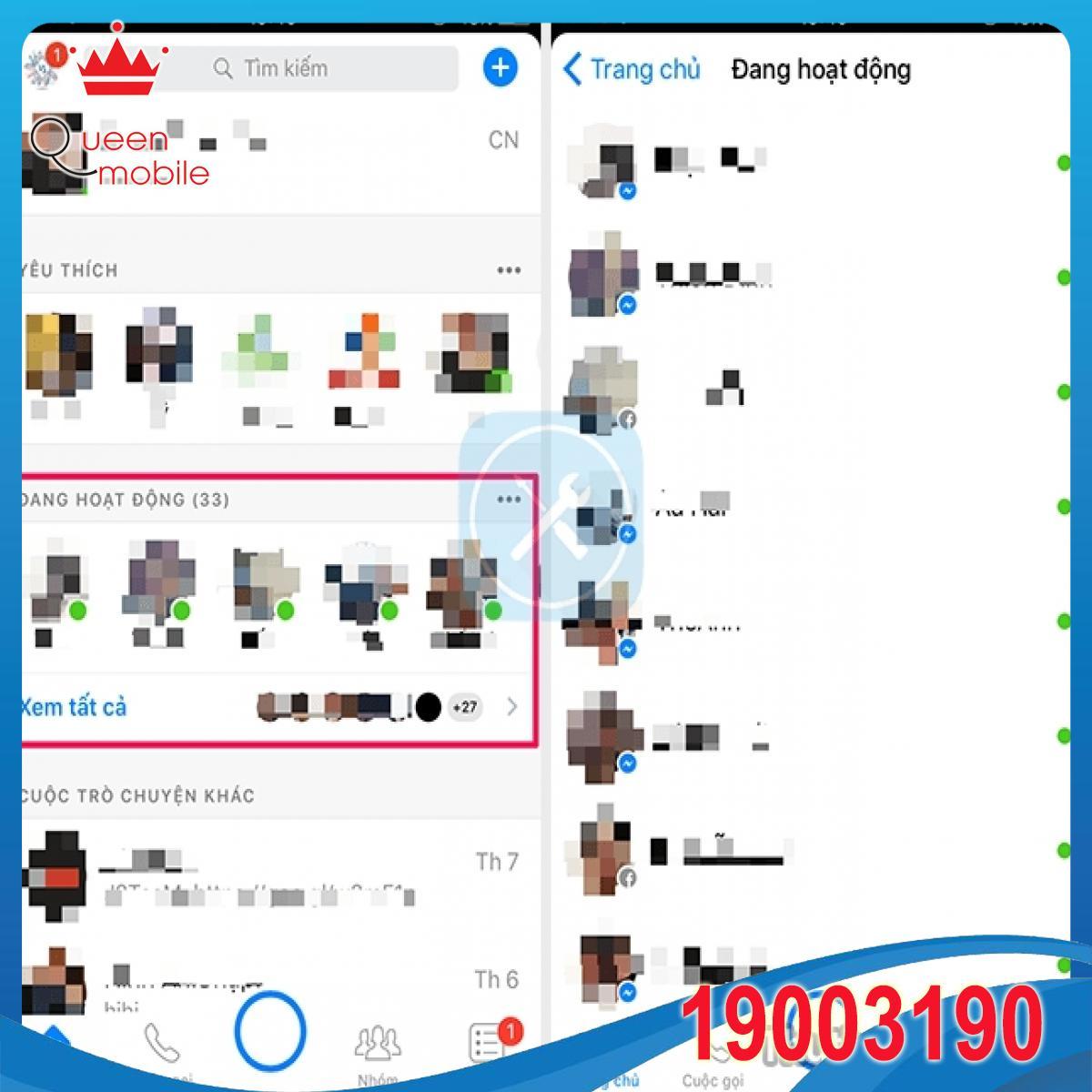 xem ai dang online tren messenger