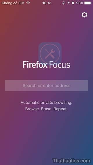 Firefox Focus giao-dien-ban-dau