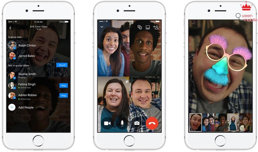 ảnh chụp màn hình tính năng gọi video nhóm trên Messenger