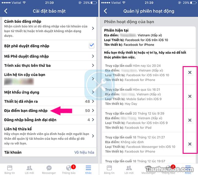 đăng xuất khỏi tất cả các phiên hoạt động của Facebook