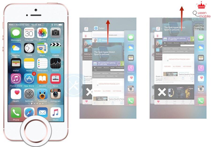 làm thế nào để xóa app ngầm iphone se