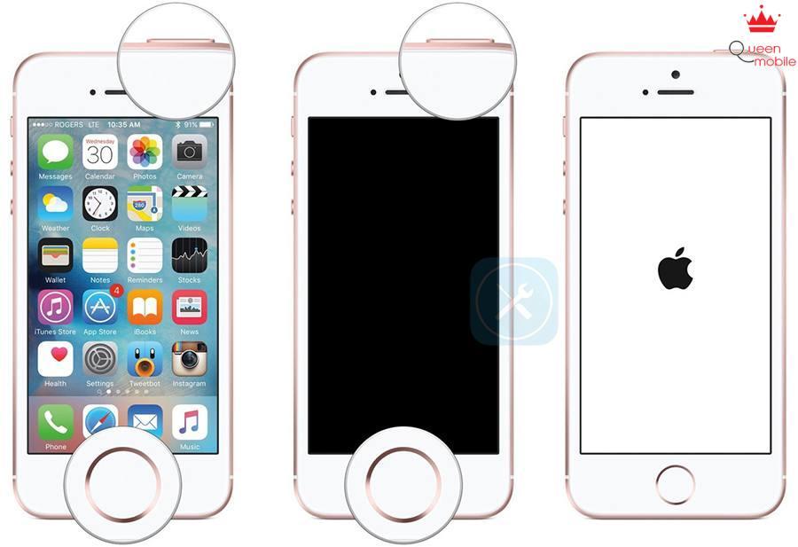 màn hình reset iphone se
