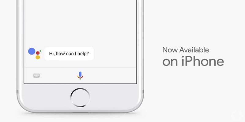 google assistant tren iphone