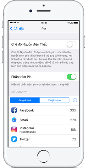 pin tren iphone 7 ios 10