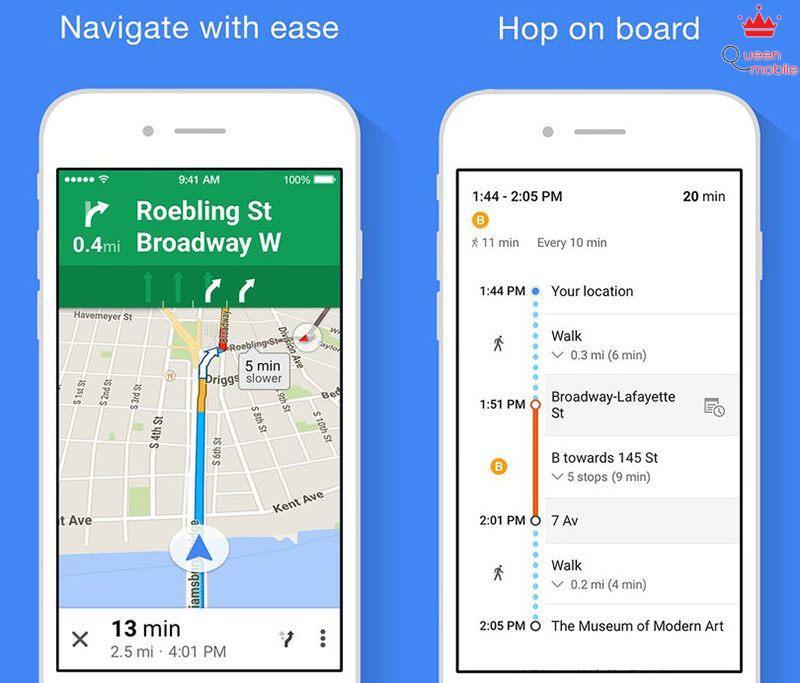 thay the ban do bang Google Maps