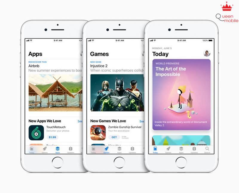 app store mơi tren ios 11
