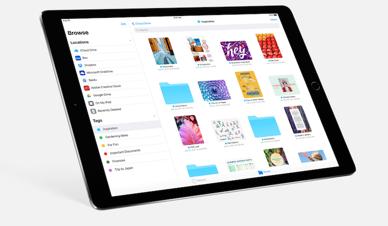 ung dung files tren ipad ios 11