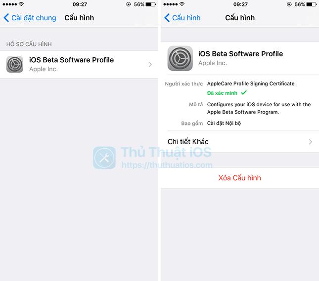 xoa beta-profile-tren iPhone