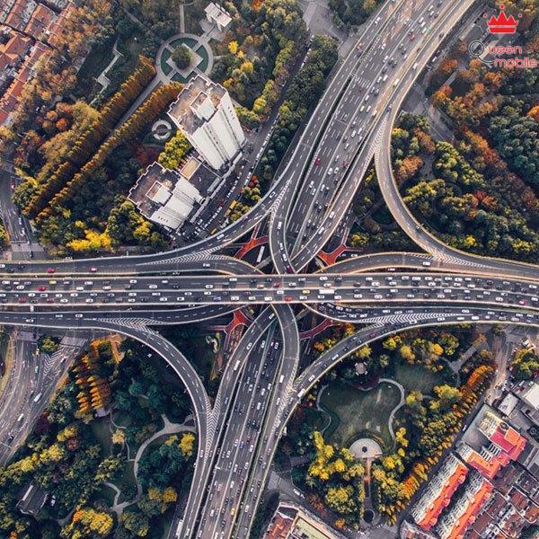 city-road-hightway-car-skyview-earthview-nature-ipad-pro