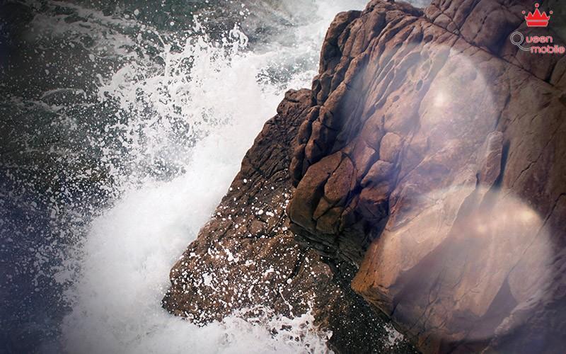 rock-wave-sea-ocean-nature-blue-flare-vignette-imac-27