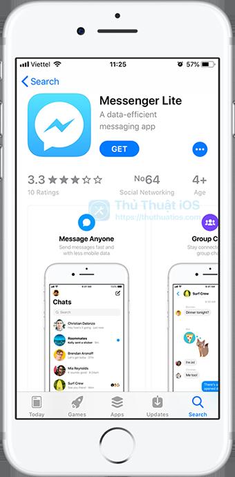 messenger-lite-tren-app-store